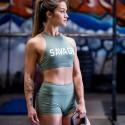 Training bra green HIGH NECK MOSS for women - SAVAGE BARBELL