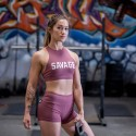 SAVAGE BARBELL Workout sport bra ROSE HIGH NECK RUSTY