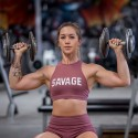 Training bra pink HIGH NECK RUSTY for women - SAVAGE BARBELL
