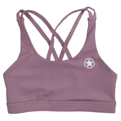 Training bra purple 4 STRAPS LOW CUT MAUVE for women | SAVAGE BARBELL
