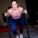 SAVAGE BARBELL Workout sport bra 4 STRAPS LOW CUT MAUVE