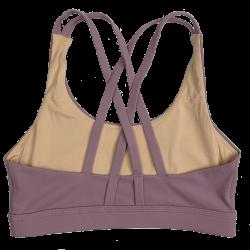 Training bra purple 4 STRAPS LOW CUT MAUVE for women | SAVAGE BARBELL