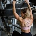 Workout sport bra 4 STRAPS LOW CUT BLUSH| SAVAGE BARBELL