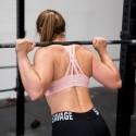 SAVAGE BARBELL Workout sport bra 4 STRAPS LOW CUT BLUSH