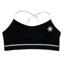 Training bra black VARSITY for women | SAVAGE BARBELL