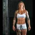 Workout woman white short VARSITY |SAVAGE BARBELL