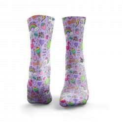 Chaussettes multicolores GIRL POWER | HEXXE SOCKS