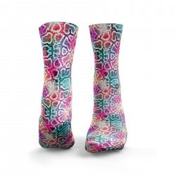 Chaussettes multicolores SNAKESKIN| HEXXE SOCKS
