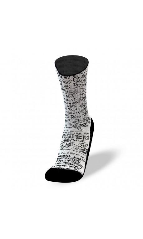 White workout socks HERO WODS   LITHE APPAREL