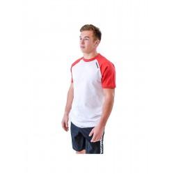 T-shirt homme blanc/rouge Bicolore | THORUS WEAR