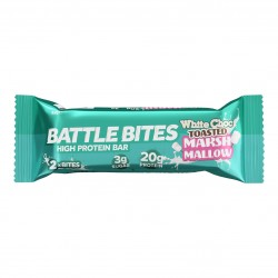 Barre protéinée + WHITE CHOCOLATE TOASTED MARSHMALLOW| BATTLE SNACKS