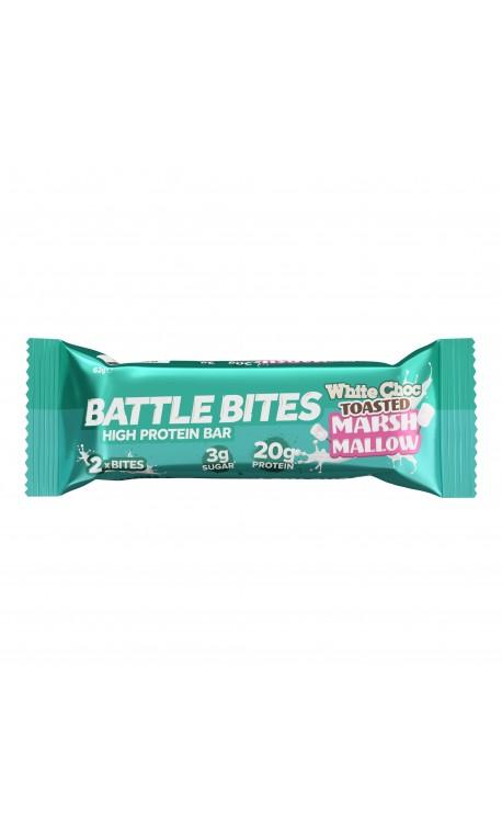 Barre protéinée + WHITE CHOCOLATE TOASTED MARSHMALLOW| BATTLE SNACKS