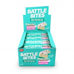 Pack de 12 Barres protéinées + WHITE CHOCOLATE TOASTED MARSHMALLOW | BATTLE SNACKS