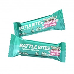 Pack of 12 protein bars + WHITE CHOCOLATE TOASTED MARSHMALLOW   BATTLE SNACKS