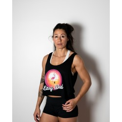 Training crop top black EASY WOD for women | VERY BAD WOD