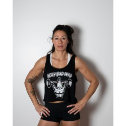 Crop Top Femme black UNICORN SOLDIER| VERY BAD WOD
