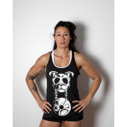 Training tank charcoal black DEATH BY for women | VERY BAD WOD