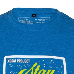 T-shirt blue FOCUSED for men   XOOM PROJECT