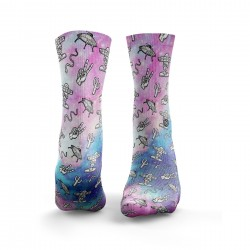 Chaussettes multicolores SPACE COWBOY| HEXXEE SOCKS