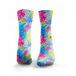 Chaussettes multicolores TROPICAL FUNK| HEXXEE SOCKS