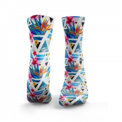 Chaussettes multicolores TROPICAL GEOS| HEXXEE SOCKS
