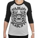 T-shirt 3/4 sleeves unisex black/White DIA DE LOS DEADLIFTS | PROJECT X
