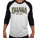 T-shirt 3/4 sleeves unisex black/White OHANA OVER EVERYTHING | PROJECT X
