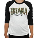 PROJECT X T-Shirt manches 3/4 unisexe noir/blanc OHANA OVER EVERYTHING