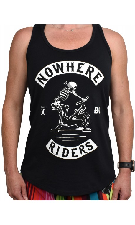 Training tank black NOWHERE RIDERS for women | PROJECT X