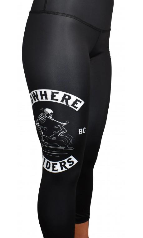 Training legging 3/4 mid waist black NOWHERE RIDERS| PROJECT X