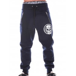 Jogging Crossfit Homme - Navy Blue Pants Skull