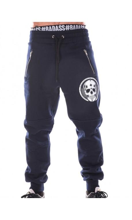 Jogging Athlète Unisexe - Navy Blue Pants Skull