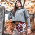 Woman workout short multicolor SKULL TROPICS| ROKFIT