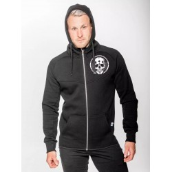 Sweat à capuche Homme noir HEAVY SMALL SKULL | NORTHERN SPIRIT