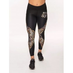 Legging 7/8 taille haute femme LEOPARD multicolor | NORTHERN SPIRIT
