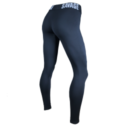 Training legging black SAVAGE WAIST ANKLE LENGTH for women | SAVAGE BARBELL