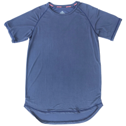 T-shirt blue STEALTH PERFORMANCE for men   SAVAGE BARBELL