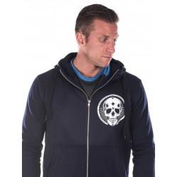 Sweat à capuche Crossfit Homme - Navy Blue Hoodie, Skull