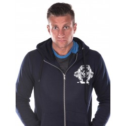 Sweat à capuche Crossfit Homme - Navy Blue Hoodie, Coffee