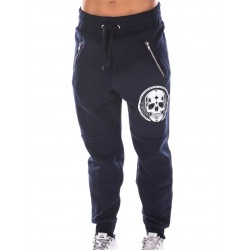 Boutique Jogging sport Femme Crossfit - Navy Bleu Pants Skull