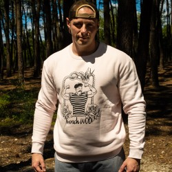 Sweat-shirt unisexe rose FRENCH WOD | VERY BAD WOD x WILL LENNART TATOO