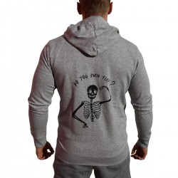 Sweat capuche zip unisexe gris FLEX | VERY BAD WOD x WILL LENNART TATOO