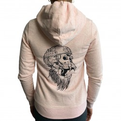 Sweat capuche zip unisexe rose GORILLA OPS| VERY BAD WOD x WILL LENNART TATOO