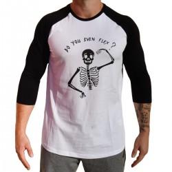 Baseball T-shirt unisexe noir FLEX| VERY BAD WOD x WILL LENNART TATOO