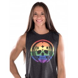 Muscle tank Femme Noir Pride Skull pour Athlète - NORTHERN SPIRIT