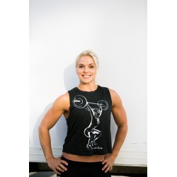 Training muscle tank black ANNA HULDA for women - NORTHERN SPIRIT