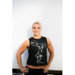 Boutique Débardeur Noir Femme Athlète - Muscle Tank Anna Hulda