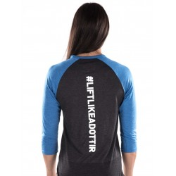 T-shirt Manches 3/4 Femme Noir Anna Hulda pour CrossFiteuse - NORTHERN SPIRIT