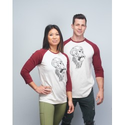 Baseball tee unisex burgundy GORILLA OPS| VERY BAD WOD x WILL LENNART TATOO