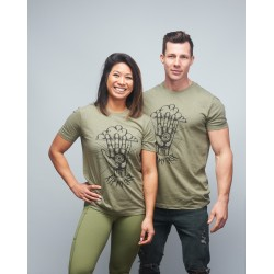 Unisex T-shirt heather green RIP MY GRIP| VERY BAD WOD x WILL LENNART TATOO